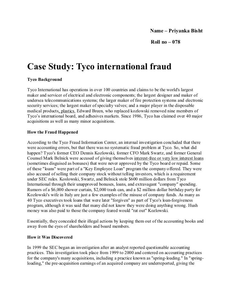 38299644 Tyco Fraud Case Study 1