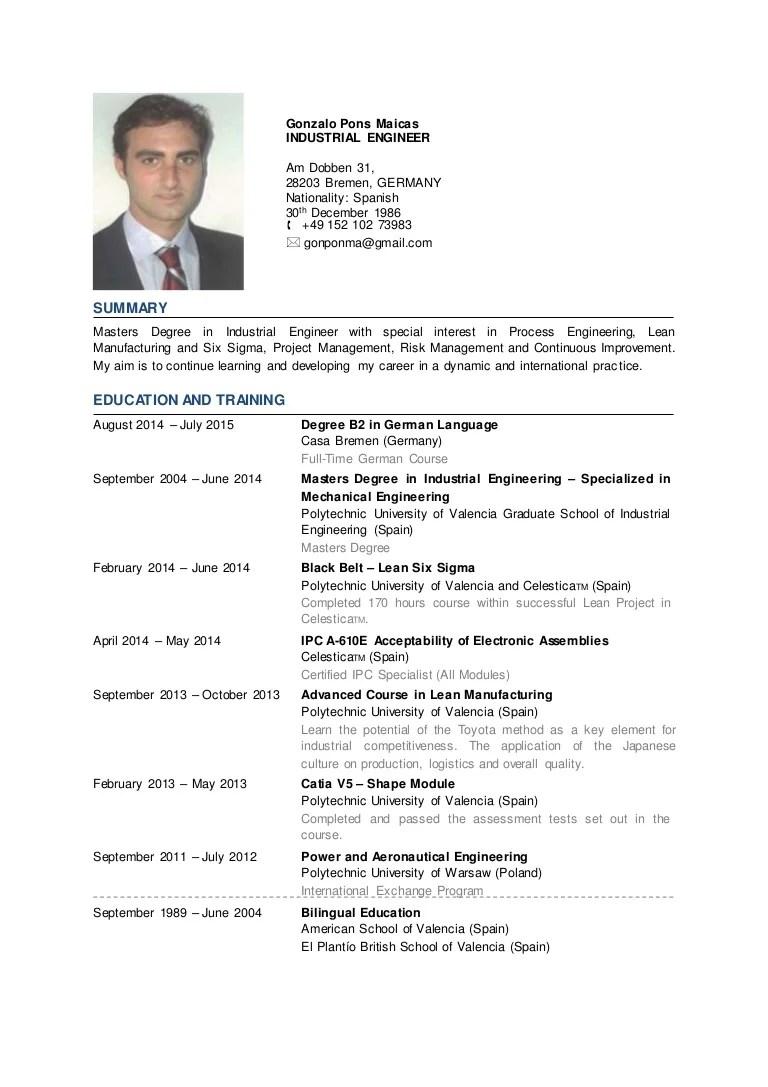 curriculum vitae of consultant