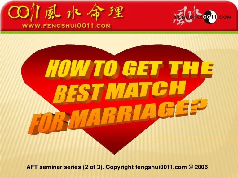 Find your perfect match for marriage