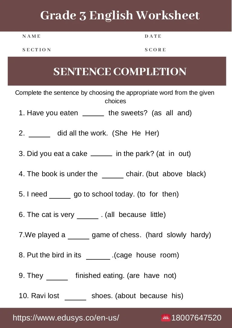 small resolution of 3rd grade english grammar worksheet free pdf