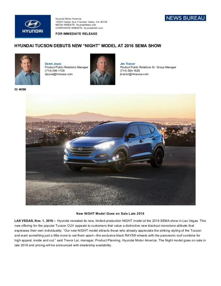 Tucson Night Edition : tucson, night, edition, Hyundai, Tucson, Night, Edition, Press, Release