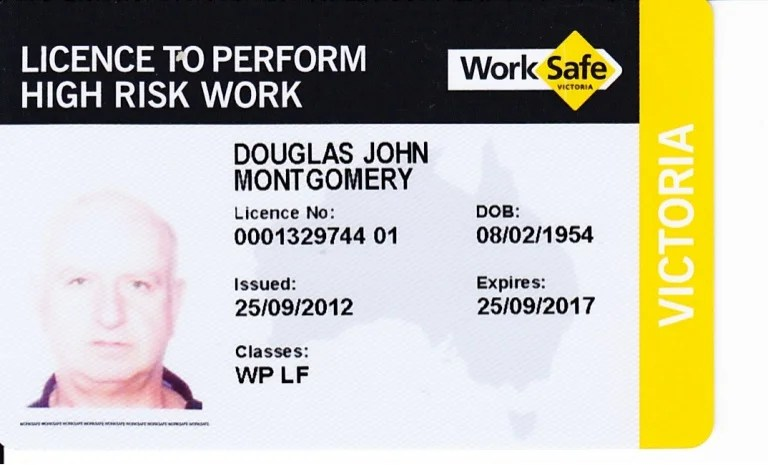 Work Safe High Risk Licence