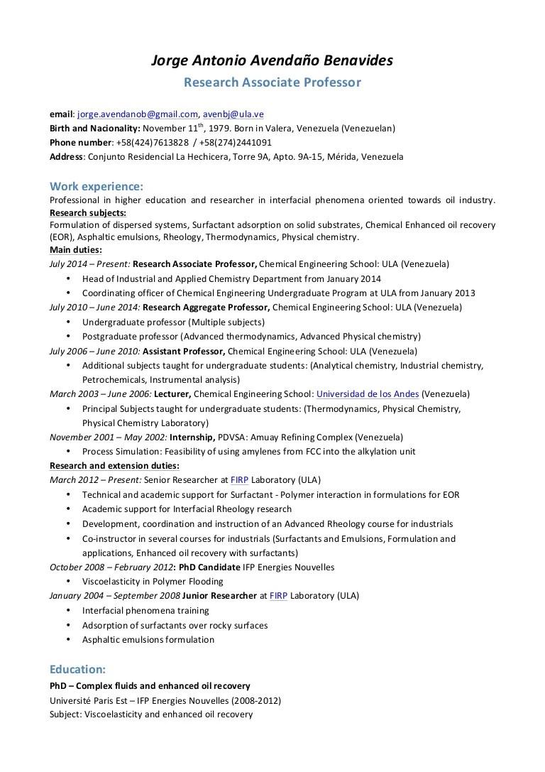 Phd Student Cv Template