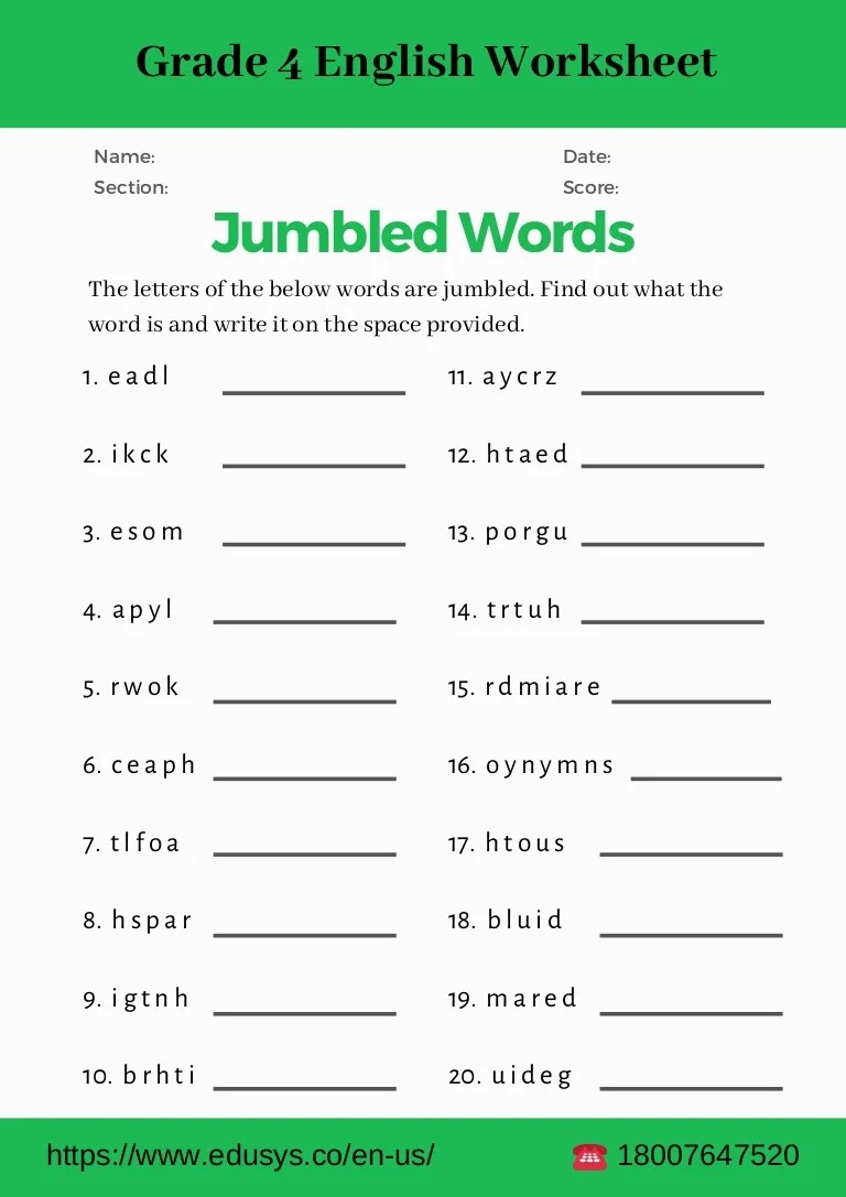 4th grade english grammar worksheet pdf [ 1087 x 768 Pixel ]