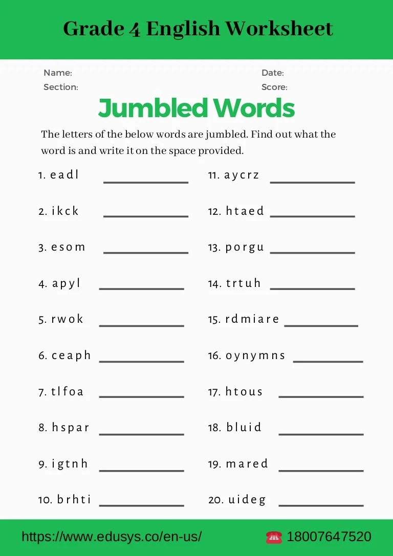 hight resolution of 4th grade english grammar worksheet pdf