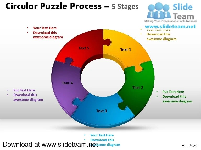 also pieces pie chart circular puzzle with hole in center process powerp  rh slideshare