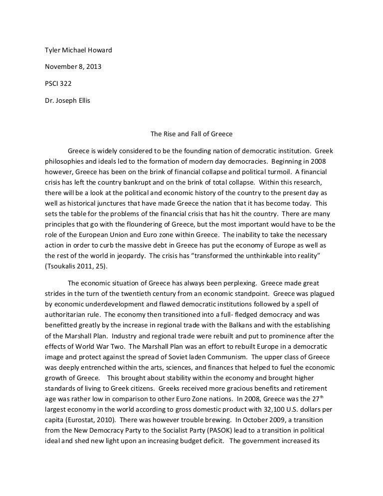 PSCI 322 Greece Research Paper