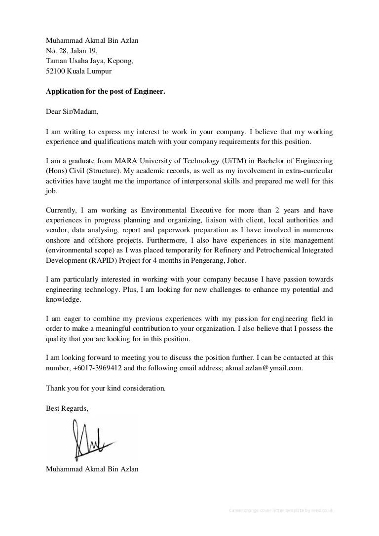 Akmal Azlan CV  Cover Letter