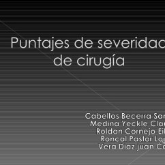 Escore Prognostico Sofa Clean With Baking Soda 6 Puntajes De Severidad
