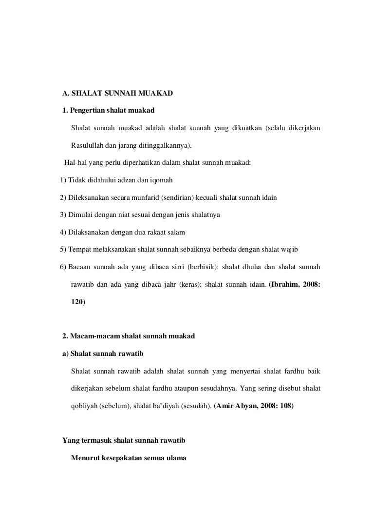Contoh Sunnah Ghairu Muakkad - ASTALOG | Salat Rawatib.