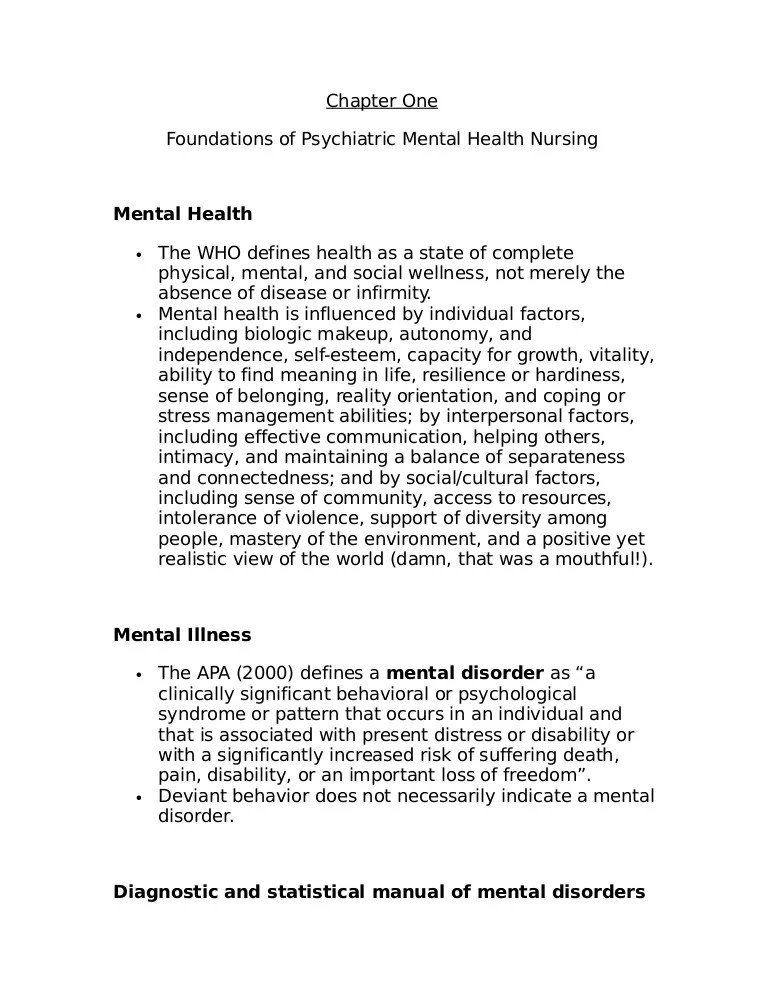8086990 Lecture Notes For Mental Health Nursing Psych Nursing