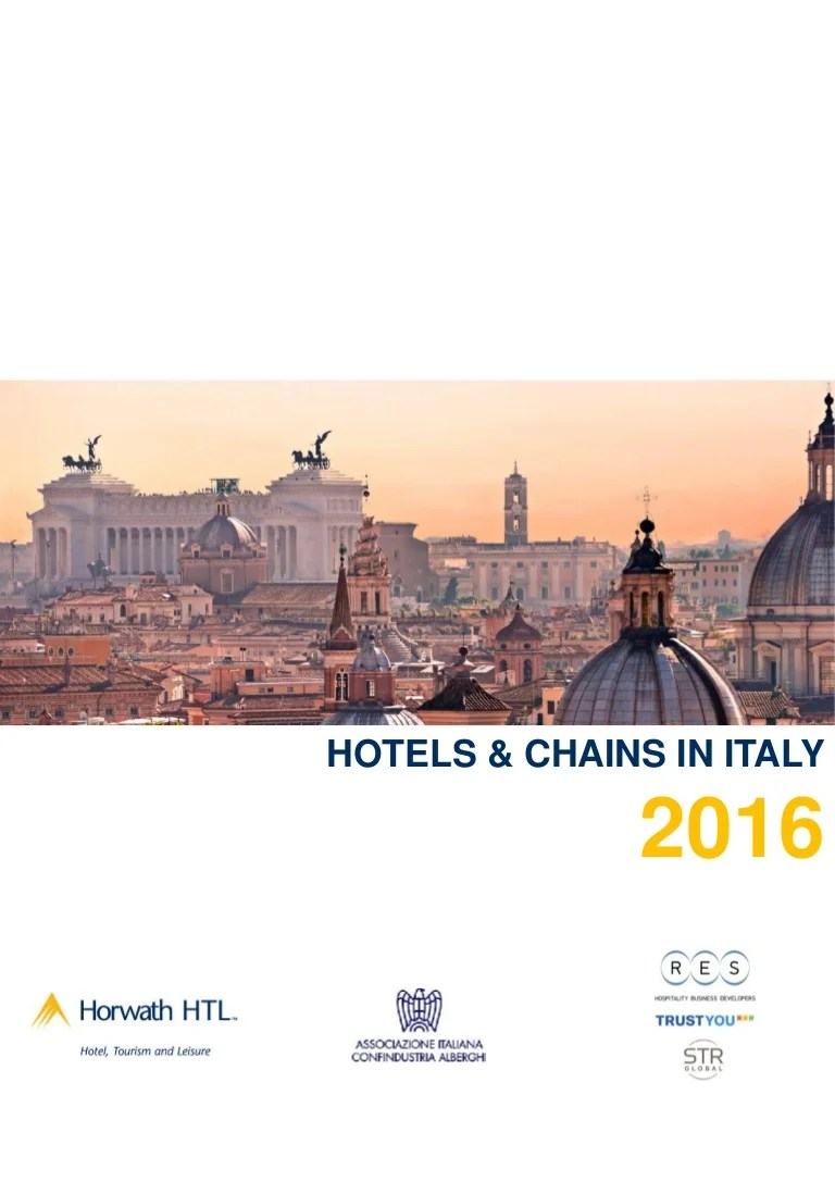 Hotels Chains In Italy 2016 Report