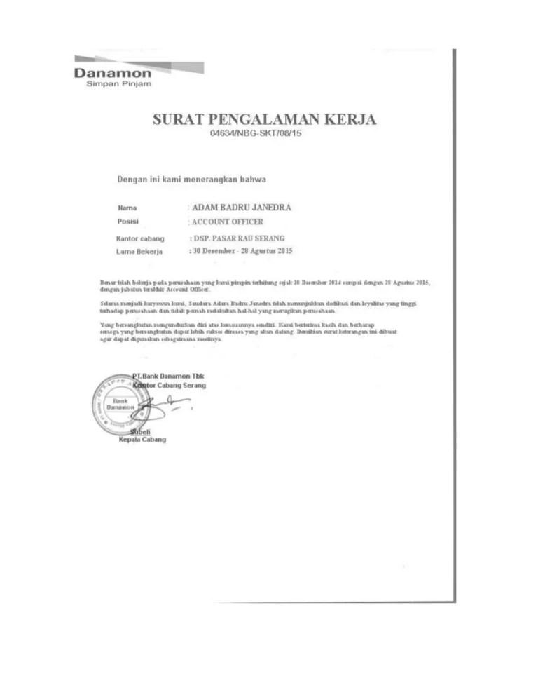 Surat Paklaring Kerja : surat, paklaring, kerja, PAKLARING, KERJA