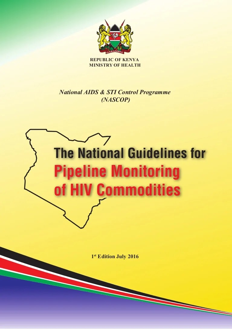 small resolution of the national guidelines for pipeline monitoring of hiv commodities kenya final july2016
