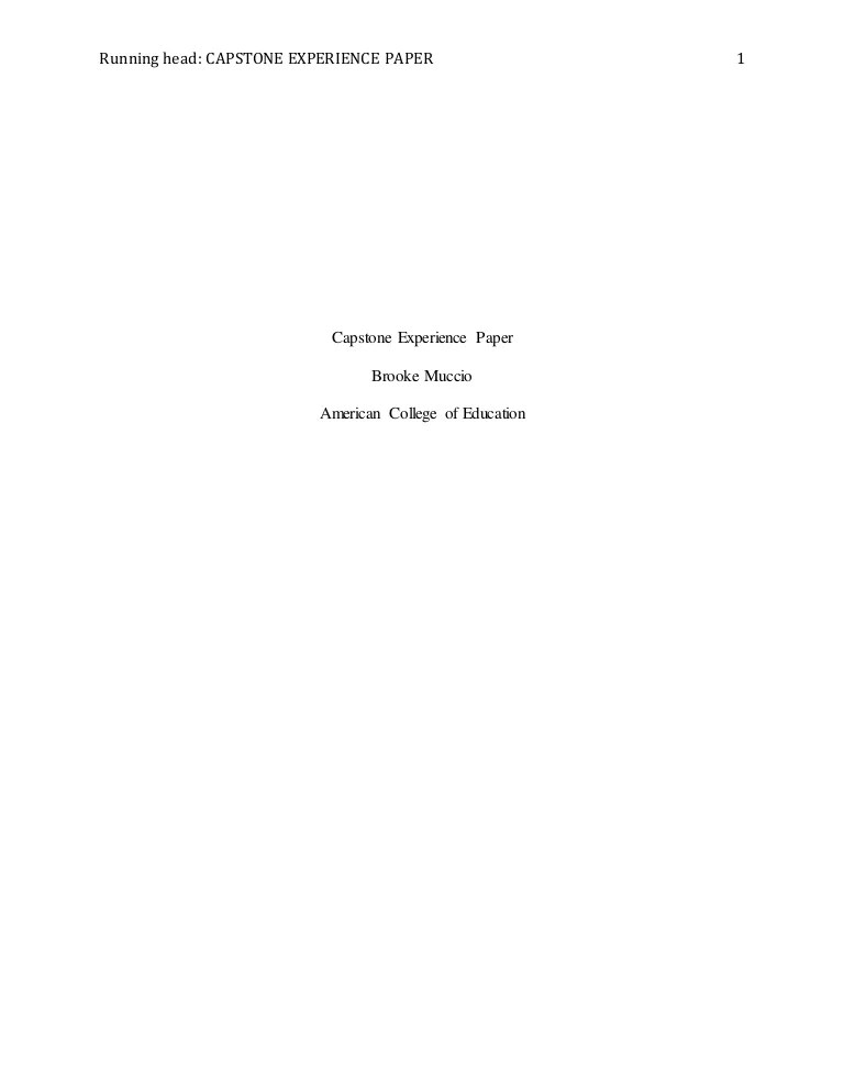 Capstone Essay Perspective Paper Writing Tips Capstone Paper Sample
