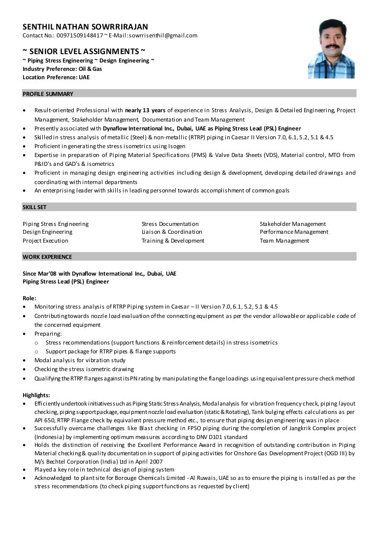 piping layout engineer resume [ 768 x 1087 Pixel ]