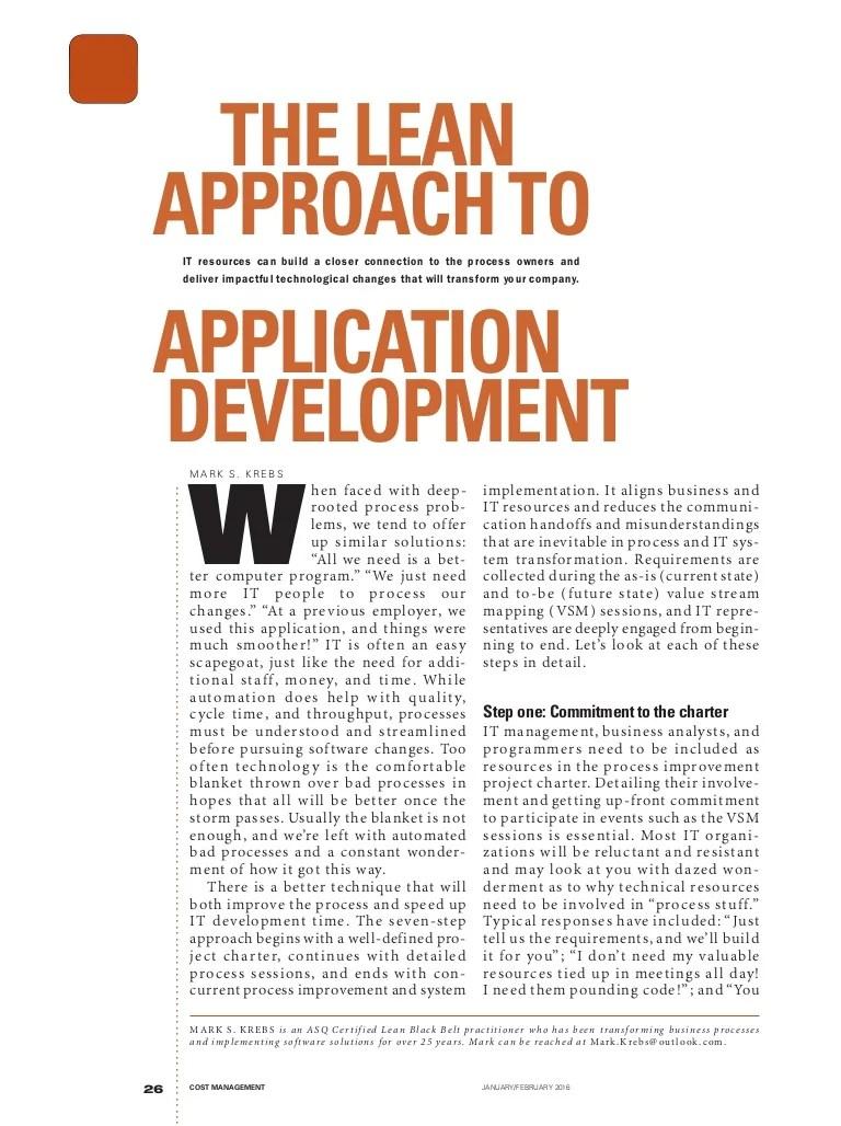 Lean approach to IT development