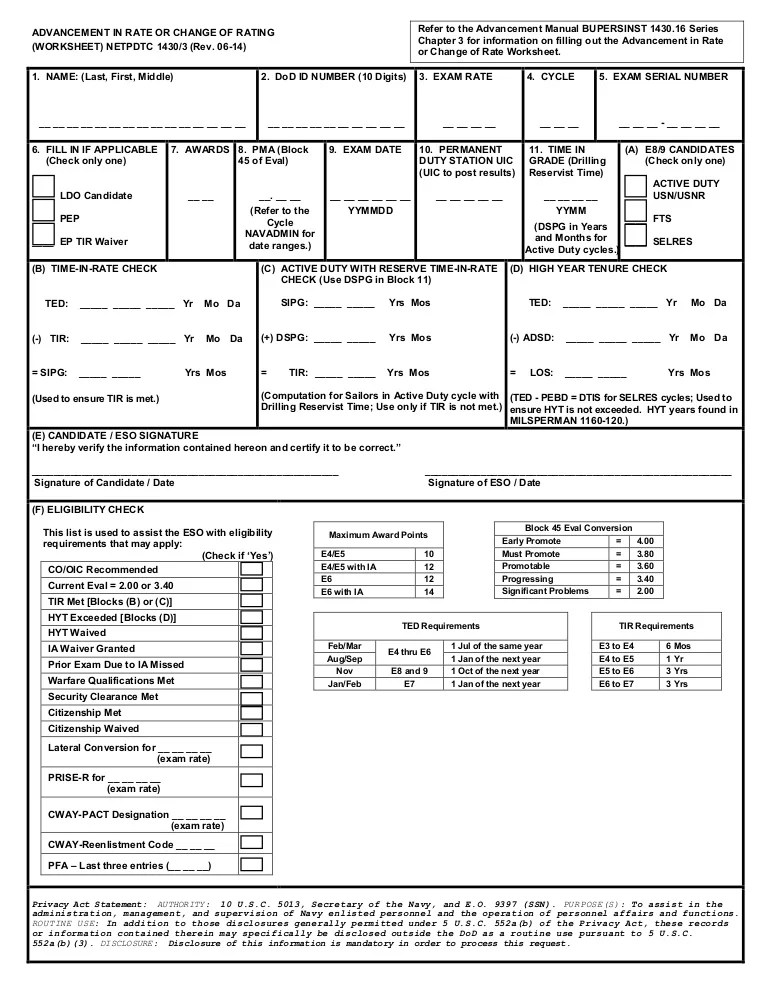 Advancement Worksheet 06 14