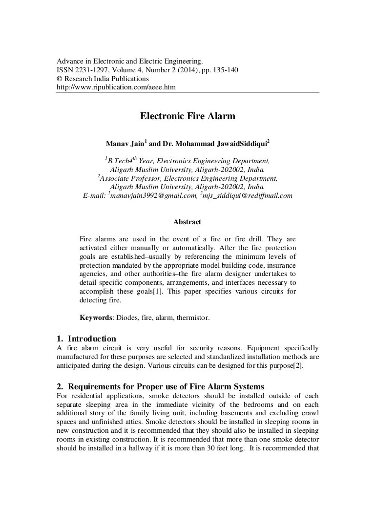 medium resolution of block diagram of fire alarm using thermistor