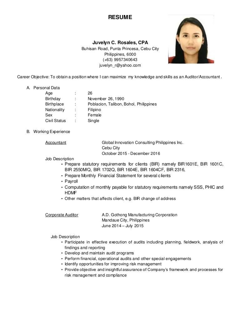 Resume Juvelyn C Rosales