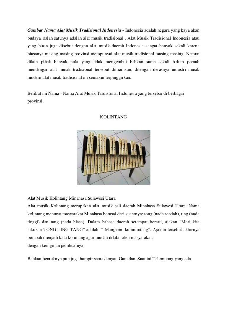 Alat Musik Talempong Berasal Dari : musik, talempong, berasal, Gambar, Musik, Tradisional