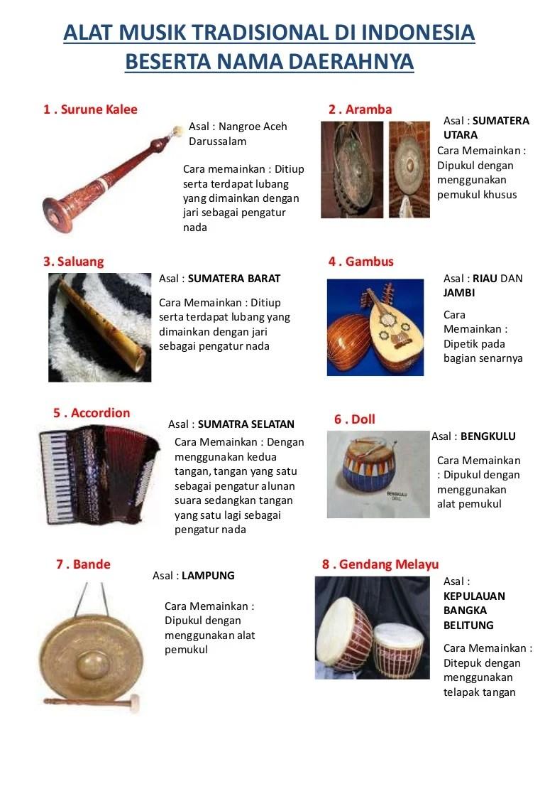 Alat Musik Tradisional Asal Daerah Dan Cara Memainkannya Cute766