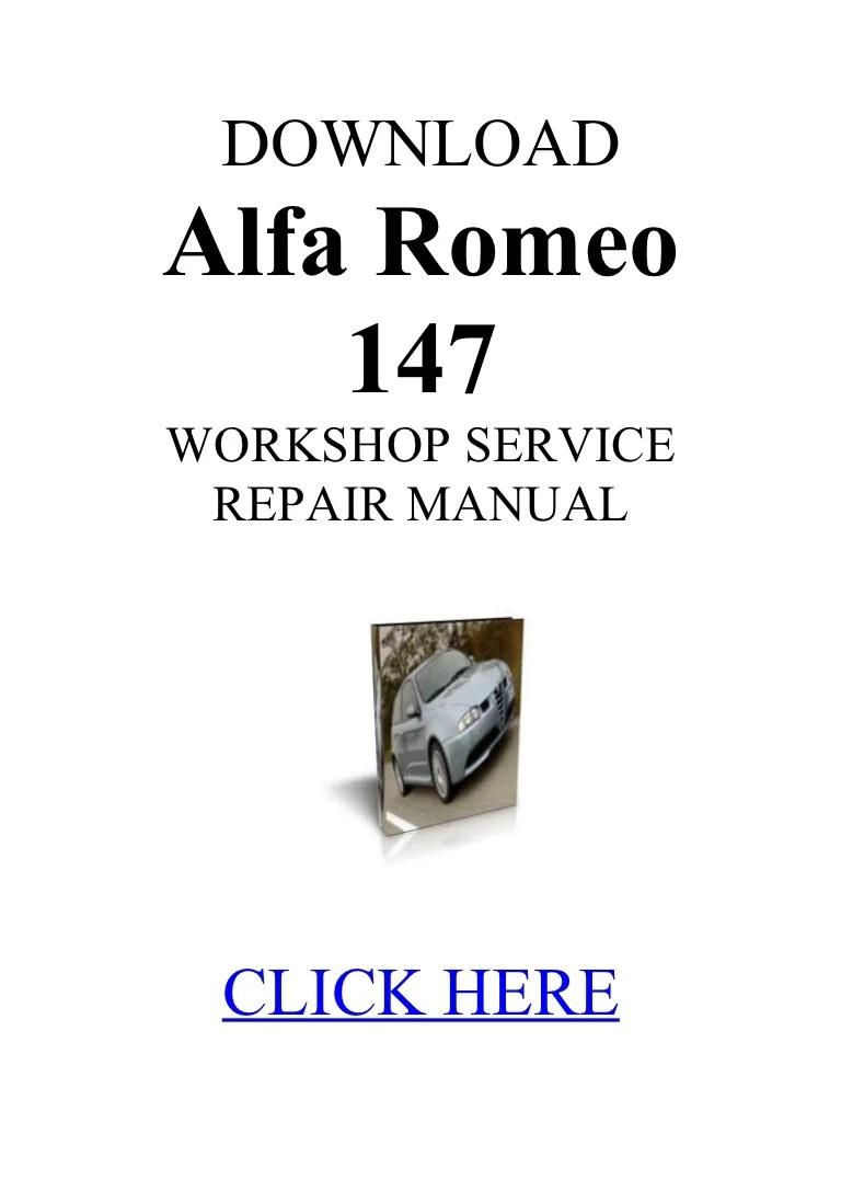 medium resolution of alfa 147 manual