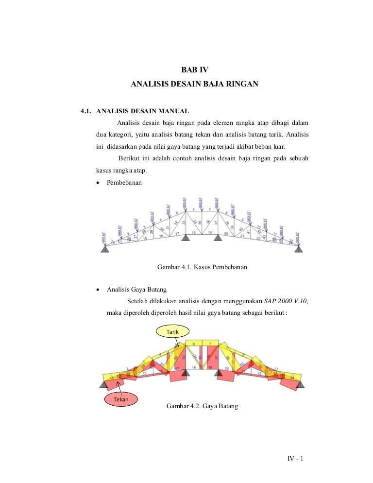 gambar jenis baja ringan analisis desain