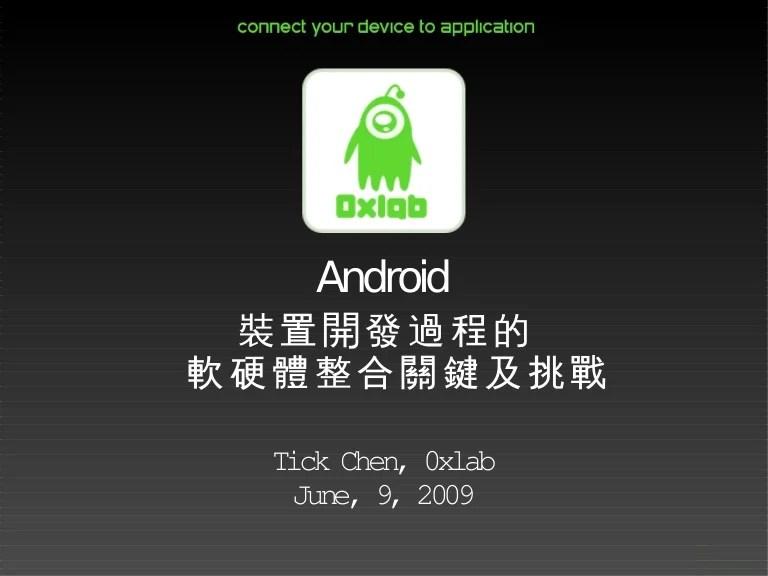 Android裝置開發過程的軟硬整合關鍵及挑戰