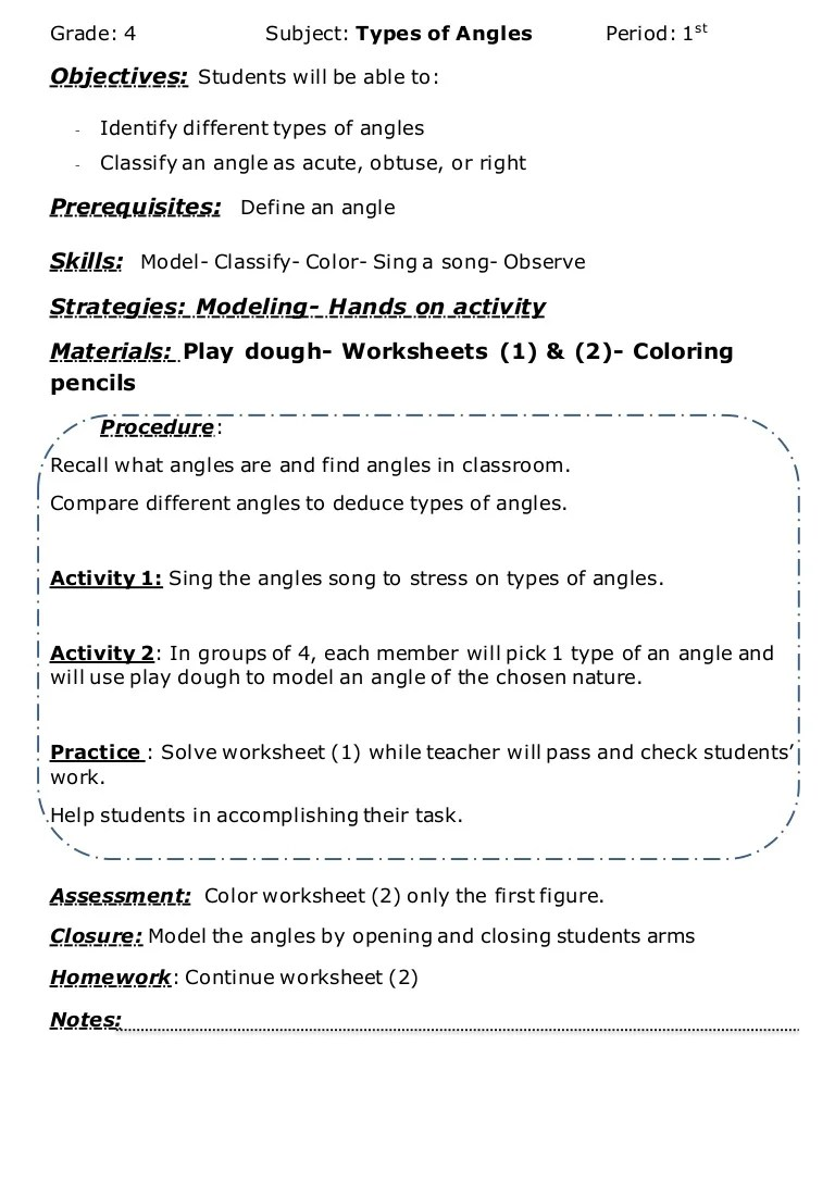 hight resolution of Angles lesson plan