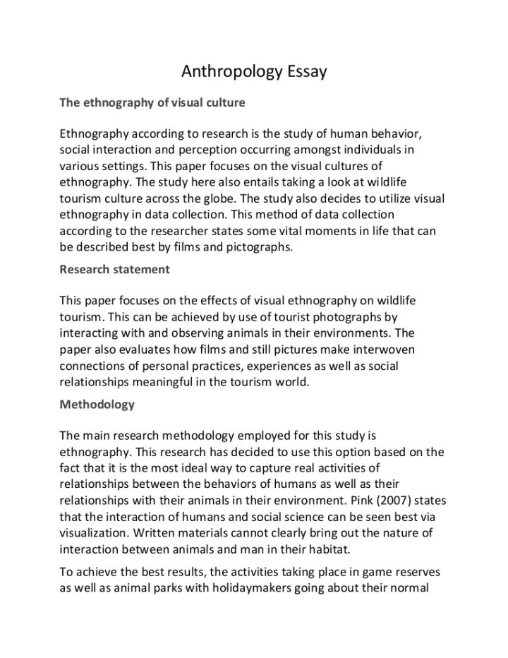 Ethnographic essay example hepatitze