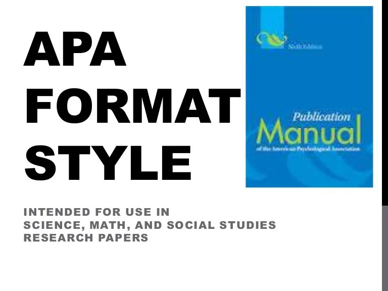 Apa Format Style Power Point