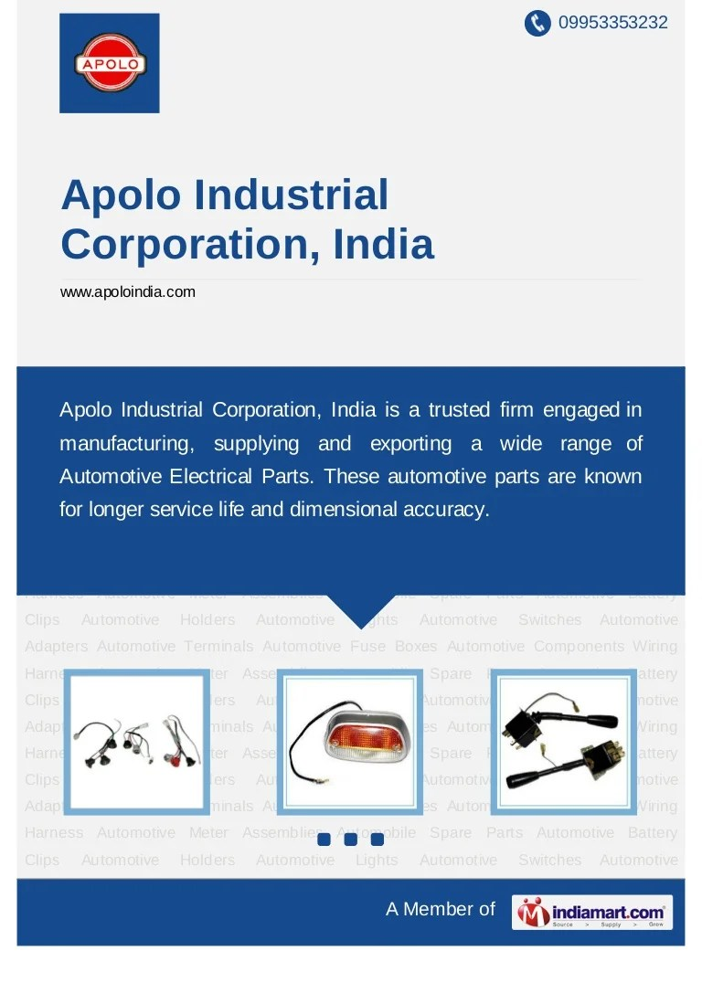 medium resolution of apolo industrial corporation india new delhi automotive electrical parts