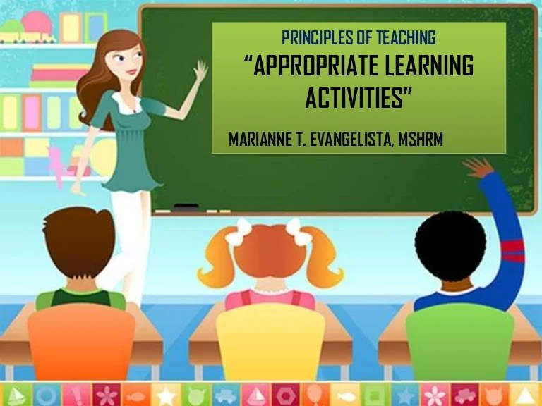 Appropriate Learning Activities Introductory And