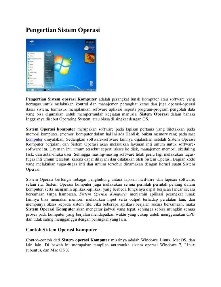 Contoh Perangkat Lunak Sistem Operasi : contoh, perangkat, lunak, sistem, operasi, Artikel, Sistem, Operasi