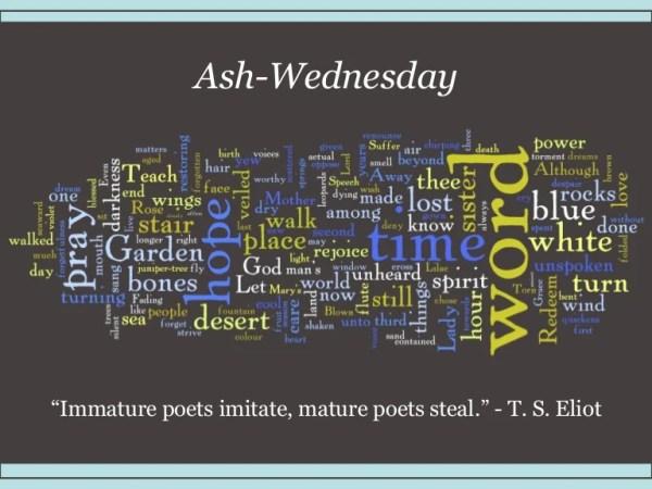 ash wednesday eliot # 72