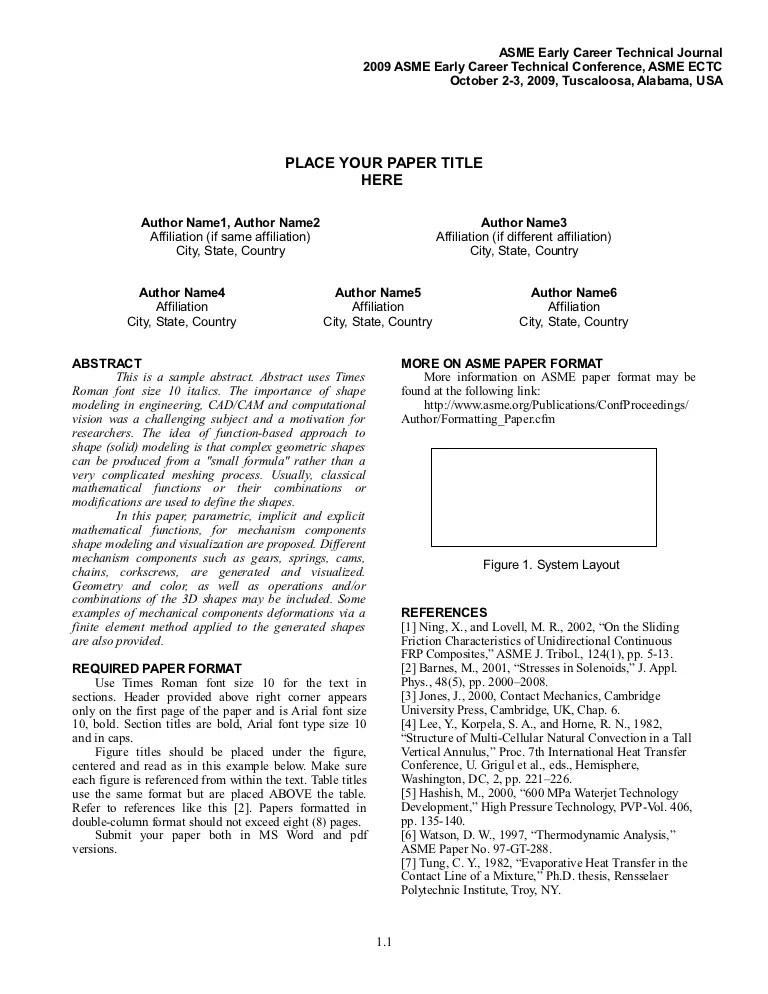 Asme Paper Format Ectc2009