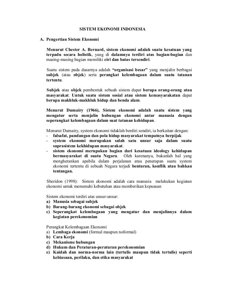 Contoh Sistem Ekonomi Komando : contoh, sistem, ekonomi, komando, Sistem, Ekonomi, Indonesia