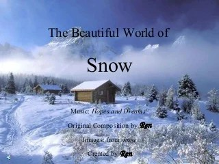 Beautiful World of Snow