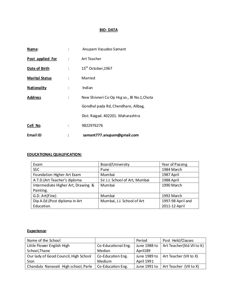 resume format download normal