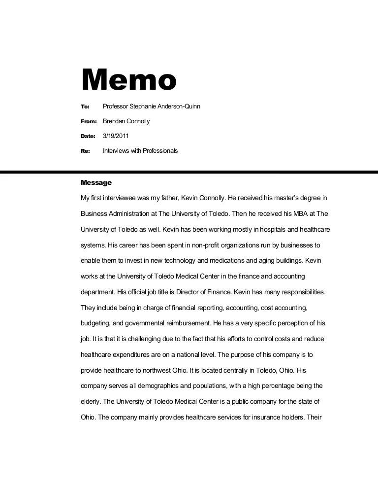 sample memos to staff