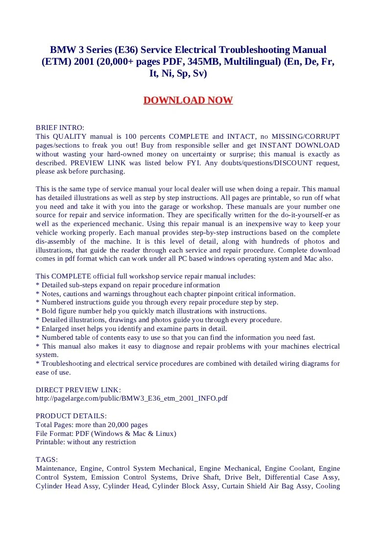 bmw 3 series e36 service electrical troubleshooting manual etm 2001 20 000 pages pdf 345 mb multilingual en de fr it ni sp sv  [ 768 x 1087 Pixel ]