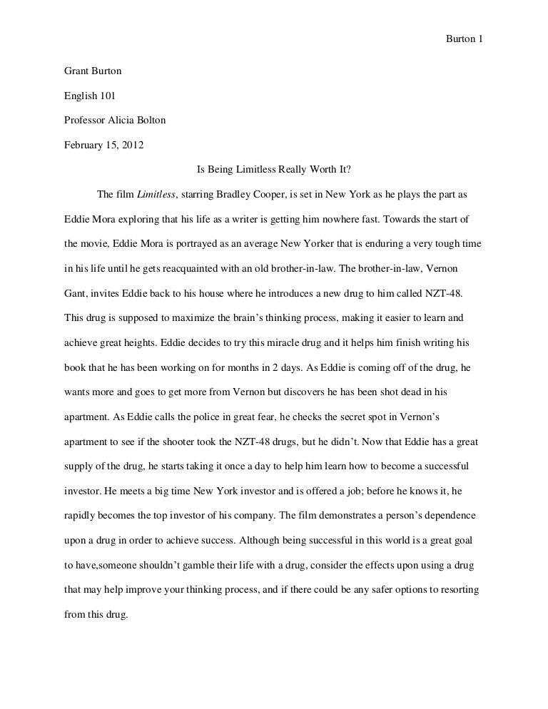 evaluation essays examples