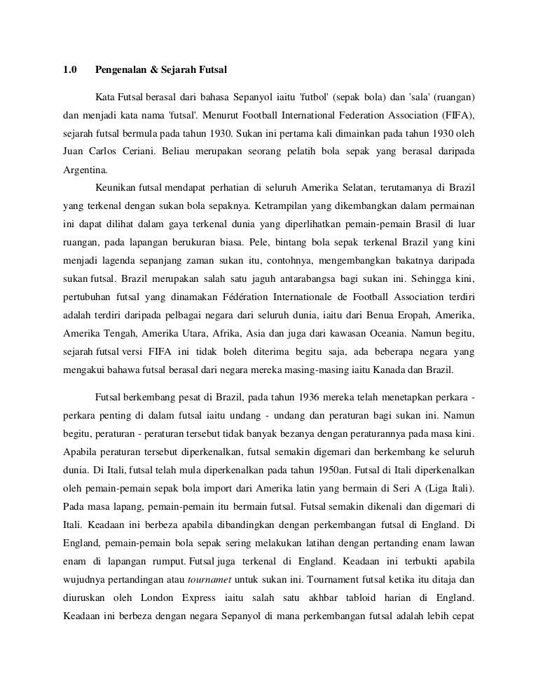Sejarah Futsal : sejarah, futsal, Sejarah, Undang, Dalam, Futsal