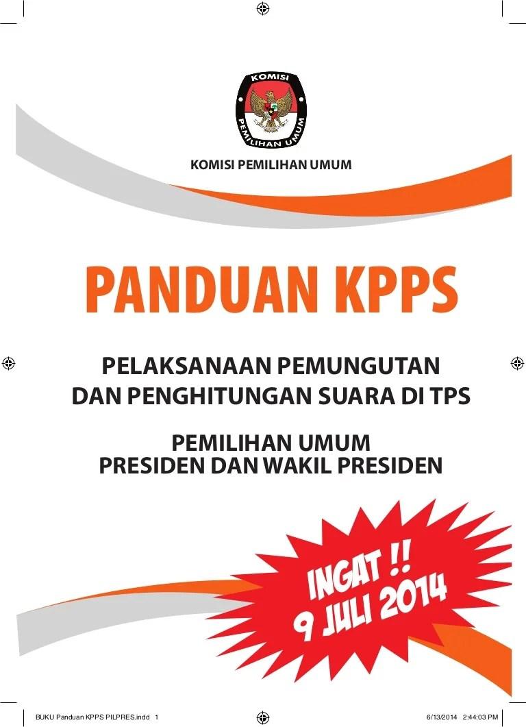 Buku Panduan Kpps 2019 Pdf : panduan, Panduan, Pilpres