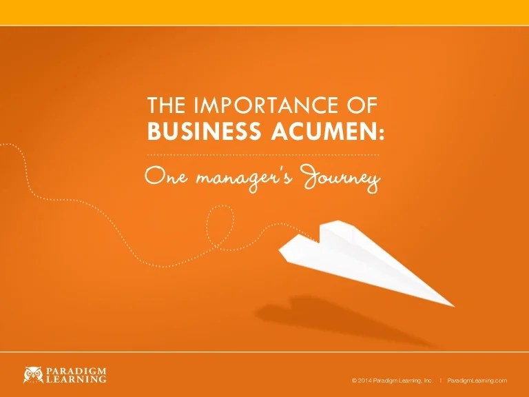 The Importance of Business Acumen: One Manager's Journey