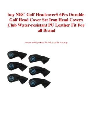 buy NRC Golf HeadcoverS 6Pcs Durable Golf Head Cover Set Iron Head Covers Club Water-resistant PU Leather Fit For all Brand