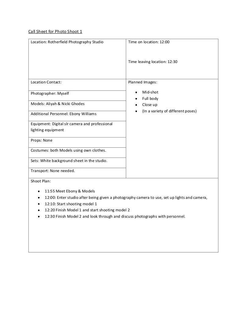 call plan template