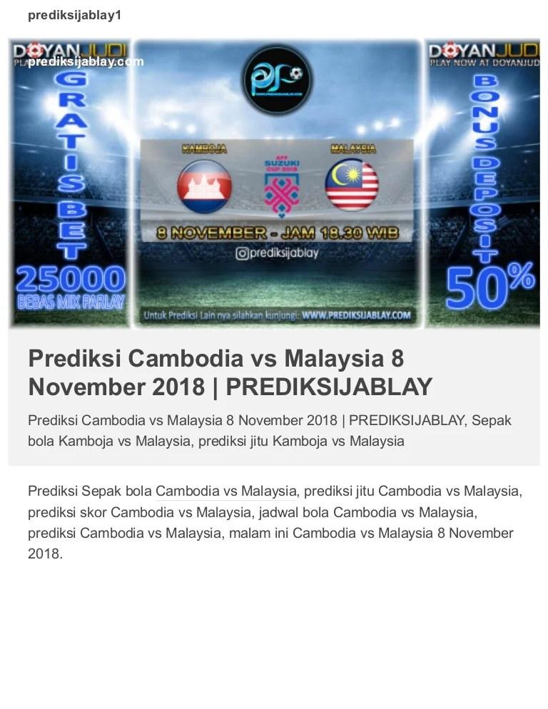 Prediksi Kamboja Jitu : prediksi, kamboja, Prediksi, Cambodia, Malaysia, November, PREDIKSIJABLAY
