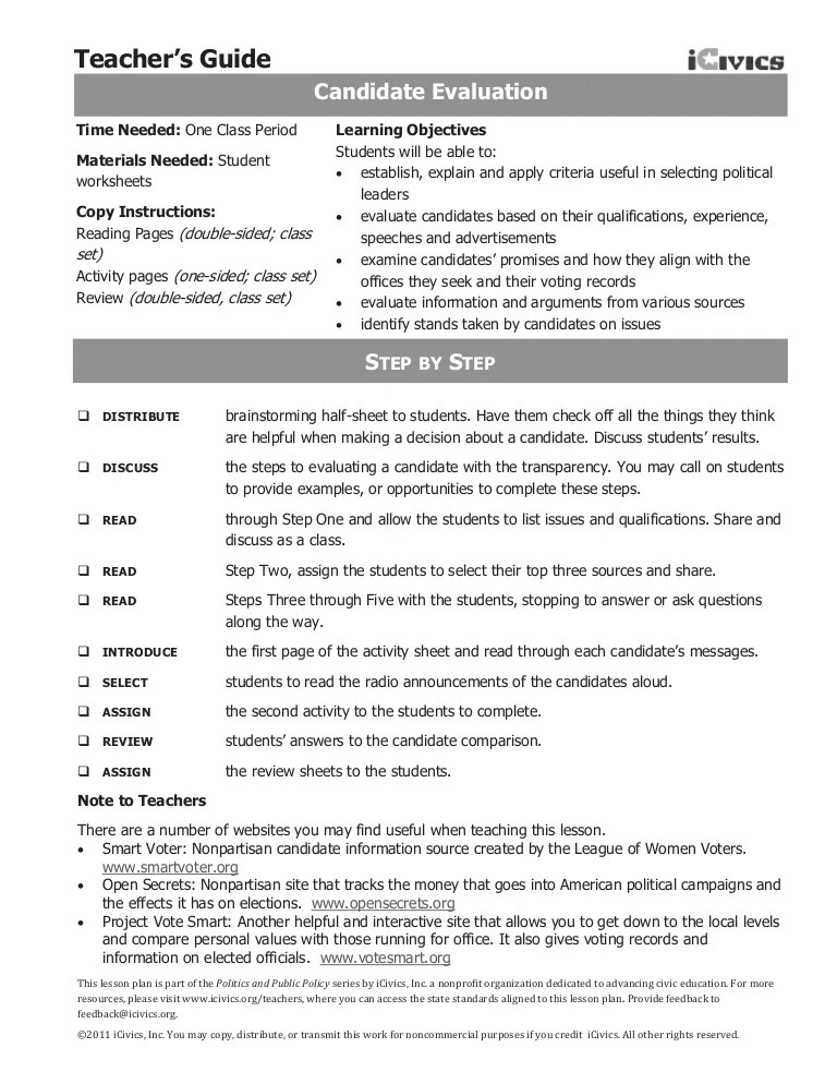 Icivics Sources Of Law Worksheet Answer Key : icivics, sources, worksheet, answer, Candidate, ICivics